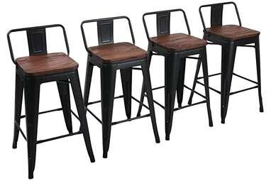 Yongchuang Set-Of-4 Metal Barstools