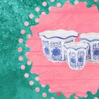 Blue and White Porcelain Flower Pots
