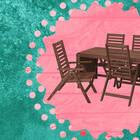 Alfie-Lee Rectangular Long Teak Dining Set