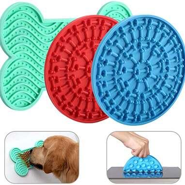 Dog licking mat