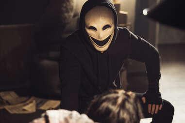 control z, scary mask