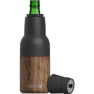 Vacuum Insulated Double-Walled Stainless Steel Beer Bottle and Can Cooler with Beer Opener