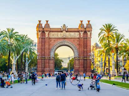 arch of triumph, ciutadella park