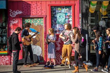 Haight Street musicians