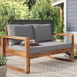 Norris Wide Outdoor Loveseat with Cushions