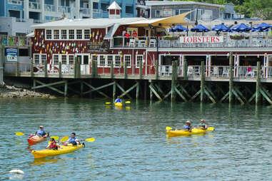 Sea kayaks in Bar Harbor