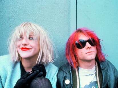 kurt cobain montage of heck, courtney love, kurt cobain pink hair