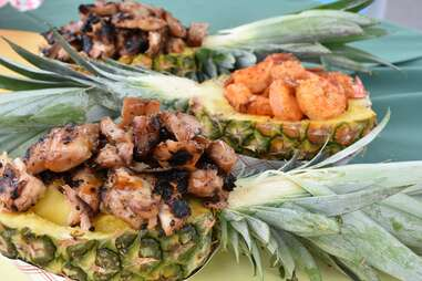 meat-filled pineapples