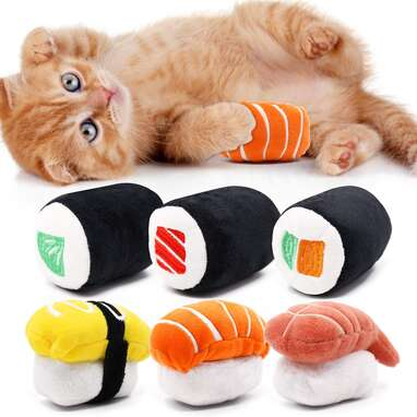 CiyvoLyeen 6-Pack Sushi Toys