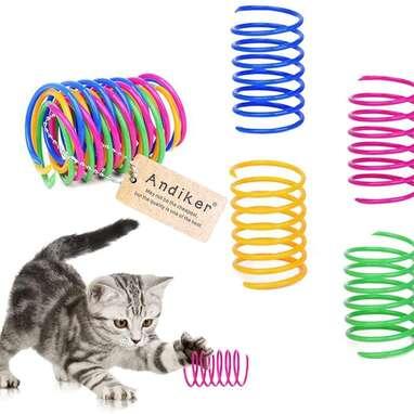 Adiker 12-Pack Cat Spiral Spring