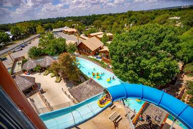 people on the lazy river and tube rides at Schlitterbahn New Braunfels