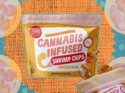 potli shrimp chips chip cannabis marijuana infused
