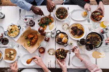 JCT. Kitchen & Bar table spread