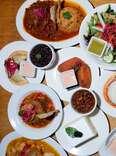 El Nuevo Frutilandia table spread