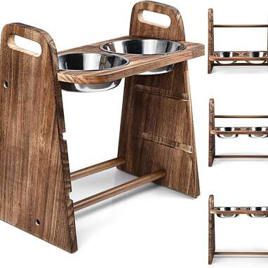 Emfogo Adjustable Elevated Dog Bowls
