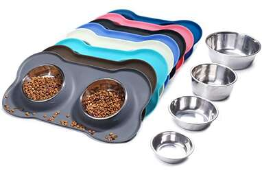 Vivaglory Stainless Steel Dog Bowls With Mat