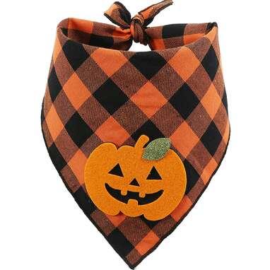 BoomBone Plaid Halloween Bandana