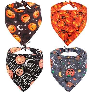 KZHAREEN 4-Pack Halloween Bandanas