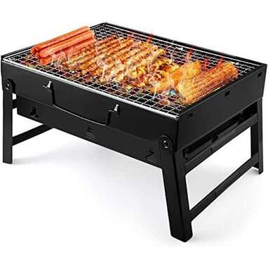 Stainless Steel Portable Folding Grill For Picnics, Patios, Camping (Small)