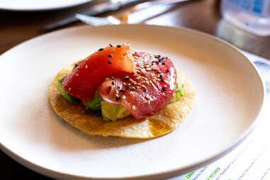 salmon tostada
