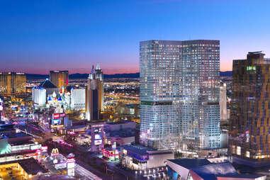 Waldorf Astoria Las Vegas skyline view