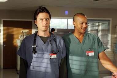 zach braff and donald faison in scrubs