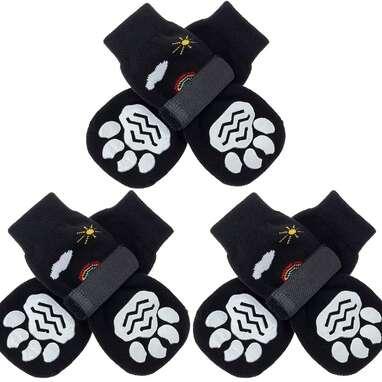 PUPTEK Double Sided Anti-Slip Dog Socks