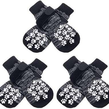 EXPAWLORER Double Side Anti-Slip Dog Socks