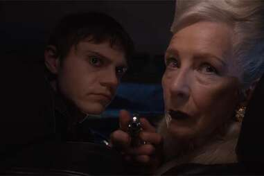 evan peters and frances conroy in american horror story: double feature