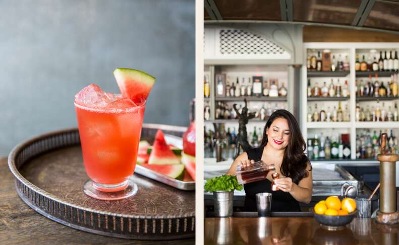 Alba Huerta and her Cape Fear Cooler with verjus