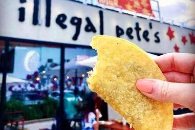 Illegal Pete's taco