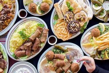 Jerusalem Restaurant spread