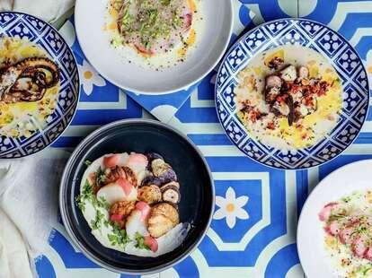 ilili Restaurant spread