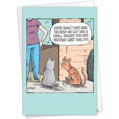 NobleWorks Humor Birthday Card with Envelope