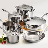 Tramontina Gourmet Tri-Ply Clad 12 Piece Stainless Steel Cookware Set