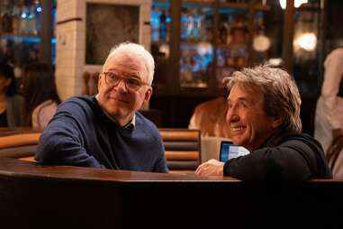 only murders in the building, steve martin and martin short looking over shoulder