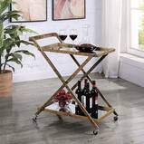 Lorena Two-Tier Mirrored Bar Cart