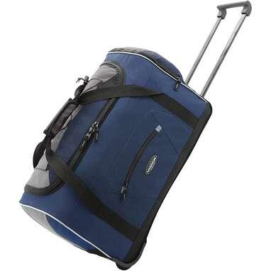 Travelers Club Adventure Upright Rolling Duffel Bag