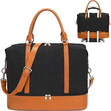 Polka Dot Travel Weekend Bag