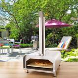 Fremont Stainless Steel Countertop Wood-Fired Pizza Oven in Silver