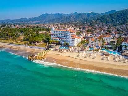 beachfront hotel view