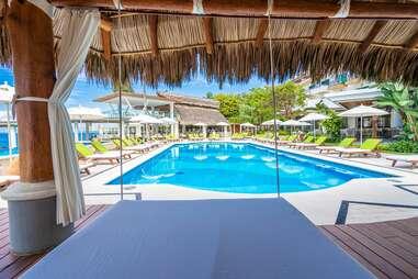Villa Premiere's pool view