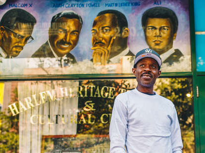 Founder of Harlem Heritage Tours, Neal Shoemaker