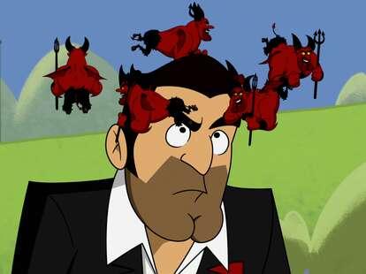 lucifer animated episode, little devils flying