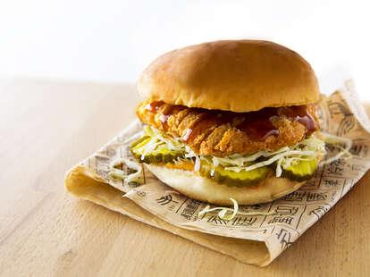 orange chicken sandwich