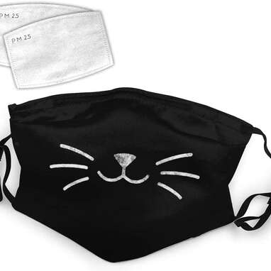 Funny Pet Cat Whiskers Washable Mask