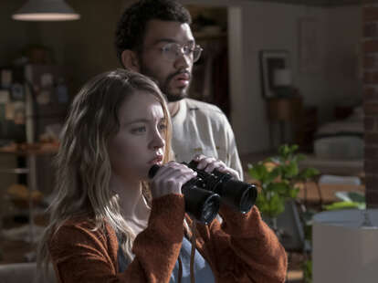 sydney sweeney and justice smith in the voyeurs