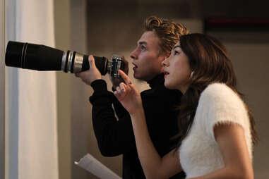 ben hardy and Natasha Liu Bordizzo in the voyeurs