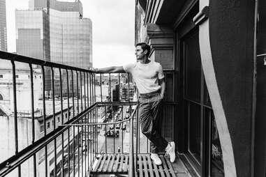 Antoni admires the view