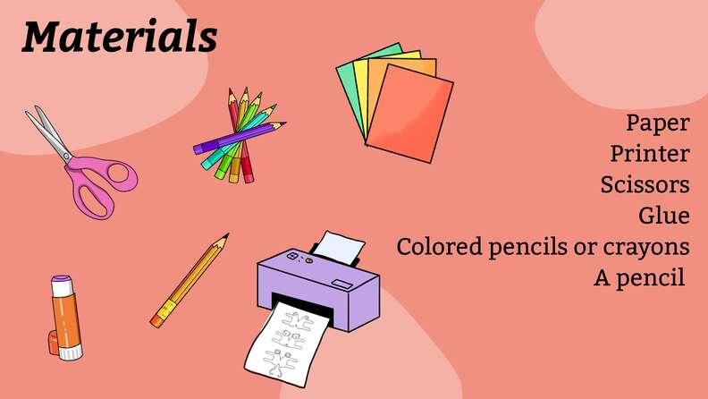 Materials for DIY animal pencil topper